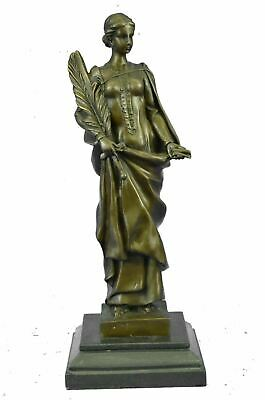 """Bronze Sculpture of NIKE VICTORIA Goddess of Victory w/ Palm Branch & Sword 14"""""""