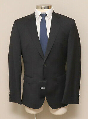 NWT Mens 40R 42L 48R Hugo Boss Johnstons5/Lenon1 Charcoal Wool Blazer Rtl $795