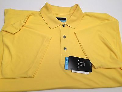 PGA TOUR Men's Golf Polo Shirt*Bright Yellow Sun Protection Dry-Fit New