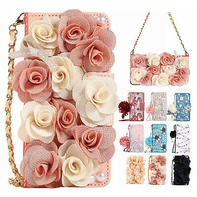 Fr Samsung Galaxy S10+ S10e S10 Chain Leather Wallet Case Phone Pursue Bag Cover