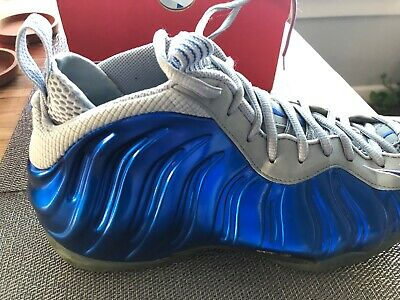 4bce6a79d81 NIKE AIR FOAMPOSITE 1 One Sport Game Royal Blue Wolf Grey Size 9 ...
