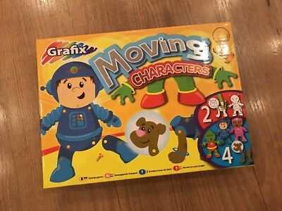 Moving Characters Craft Set by Grafix. Space Themed. Astronaut, Alien, Dog  NEW