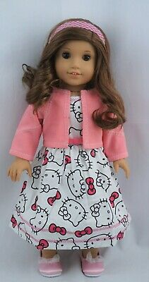 """Hello Kitty Hits the City Outfit fits 18"""" dolls and american girl dolls"""