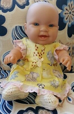 """Chubby 14"""" Berenguer Baby Doll Comes With New Clothes"""