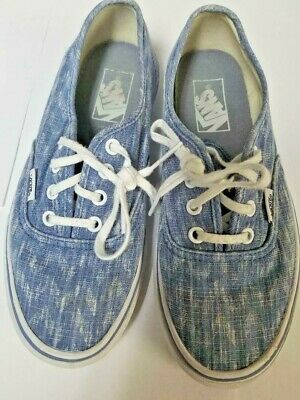 95f61875fcafc VANS Off the Wall SKATE Tennis Shoes SNEAKERS Blue white Women s 7.5 Canvas