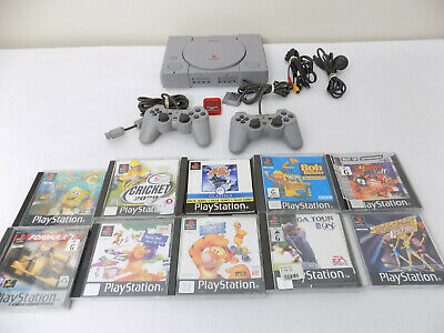 Playstation 1 Ps 1 Kids Console + 2 Controllers + 10 Games + Memory Card