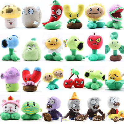 Plants vs Zombies 2 PVZ Figures Plush Baby Staff Toy Stuffed Soft Dolls