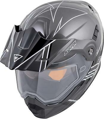 6783eaa5 SCORPION BLACK/SILVER EXO-AT950 Snow Helmet w/Electric Shield ( Size ...