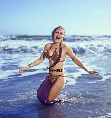 """Princess Leia Carrie Fisher 8"""" x 6"""" Promotional Photo Print  Star Wars"""