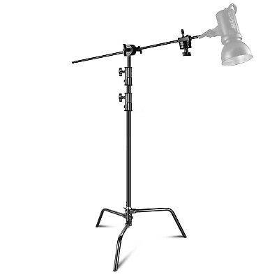 Photo Studio 3m Adjustable C-type Light Stand with 1m Holding Arm and Grip Head