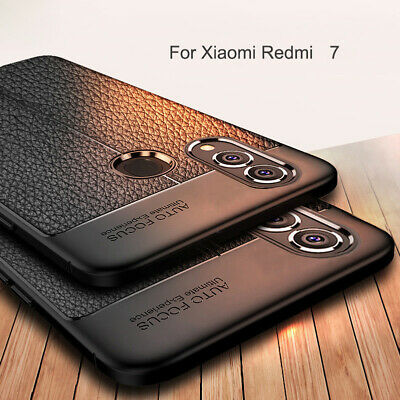 For Xiaomi Redmi 7 Note 7 Pro Shockproof Matte Soft TPU Leather Back Case Cover