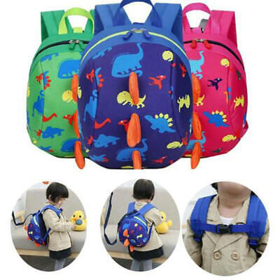 Kids Cute Dinosaur Pattern Anti-lost Safety Harness Backpack Security Strap Bag