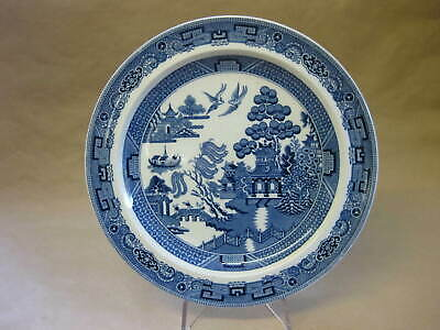 Albion Hotel Manchester ~ Antique Wedgwood Willow Pattern Plate ~ Blue & White