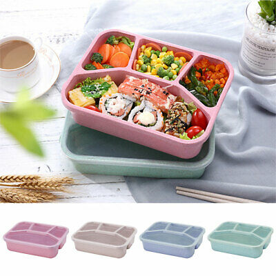 Portable Leak-Proof Lunch Box Eco-FriendlyBento Box For Kids School Picnic LO