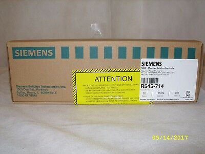 Siemens - Mfg Refurbished Mbc/rbc Backplane Power Module R545-714 Nos