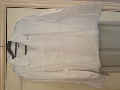 Alexandra workwear white epilate shoulder  white smock top catering hospitality