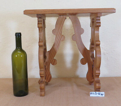 Small Stool Wooden Wood Vintage Handmade Tier Small Table '900 Gf