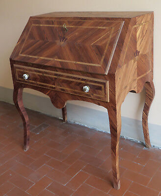 Flap Style Antique Louis XV Made Hand Fore Secretary Desk Console