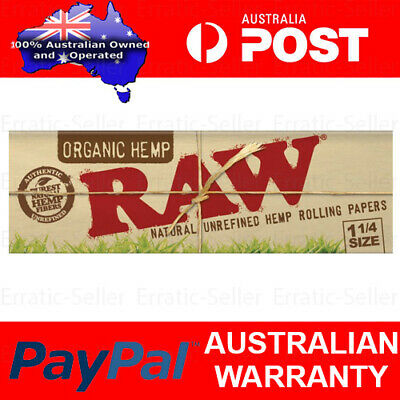 Raw Organic Hemp 1 1/4 Medium Size Rolling Papers Smoking Cigarette Tobacco