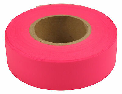 "Merco M220 Pink Flagging Tape - 1-3/16"" x 300' - Convenience Pack of 72 Rolls"
