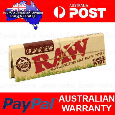 Raw Organic Hemp Single Wide Regular Rolling Papers Smoking Cigarette Tobacco