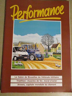 "Revue ""Performance"" De Ford : N° 9 - Hiver/1989 : Salon Heysel - Escort Star Cup"