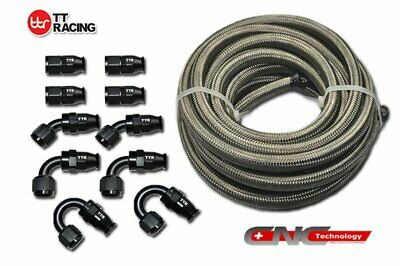 PTFE Fuel Hose Stainless Steel Hose 20ft +10 Fitting / Fitting ONLY E85 Ethanol