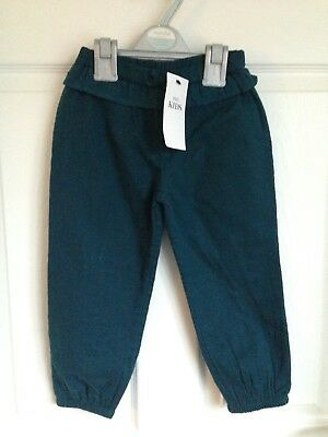 Girls Green Marks And Spencer Casual Trousers - Age 3-4yrs BNWT