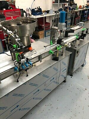 Filling capping and labelling machine