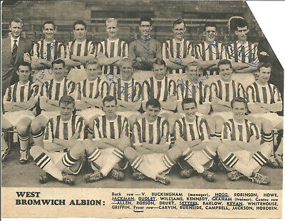 Football Autographs West Bromwich Albion 1957- 1958 Signed Team Picture F518