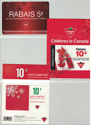 Canadian Tire Gift Cards - French card selection  lot# ctc 836