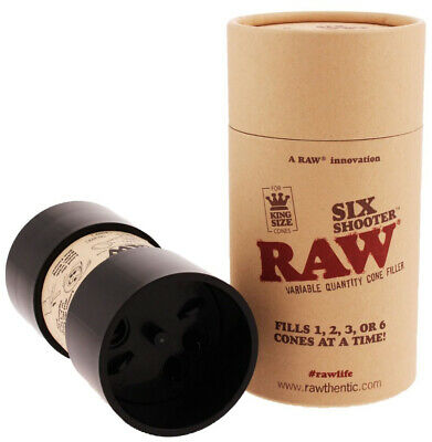 RAW Six Shooter Kingsize Multi Cone filler | Fills up to 6 pre-rolled cones!