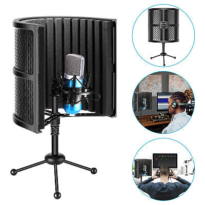 Neewer Compact Microphone Isolation Shield Sound Absorbing Foam with Tripod