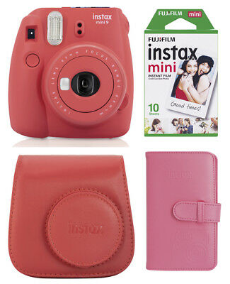 Fuji Instax Mini 9 XMAS SET poppy red Sofortbildkamera, Film, Tasche, Album