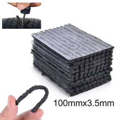 50 Qty Car Bike Tyre Tubeless Seal Strip Plug Tire Puncture Repair Recovery Kits