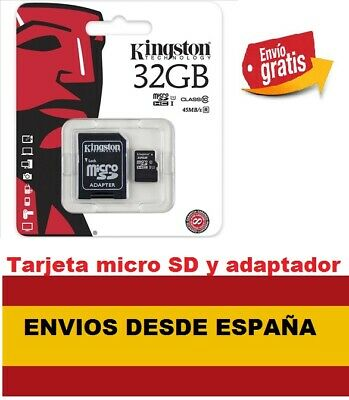 Tarjeta memoria Micro SD SDHC Kingston 32GB