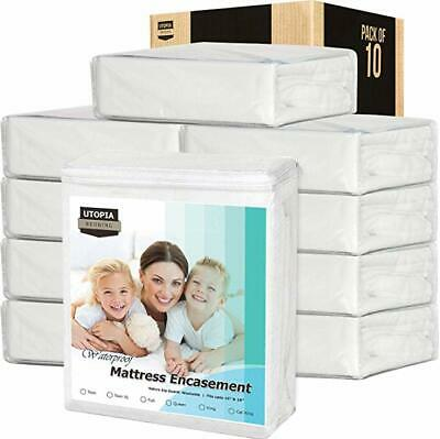 Mattress Encasement Cover Waterproof Zippered Bed Bug Proof 12 Pack Lot