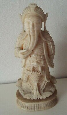 19th Century Carved Chinese (Cantonese) Chess Piece, Emperor/King