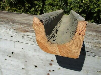 "Vintage Wood Gutter Section, 27""L Display Centerpiece  Beach Cottage, Lake House"