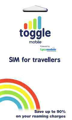 Toggle mobile SIM Card - Ideal for the frequent European Travelers