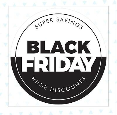 Black Friday Super Savings Huge Discounts Removable Window Cling Stickers