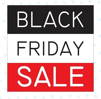 Black Friday SALE Retail Shop Removable Window Cling Stickers