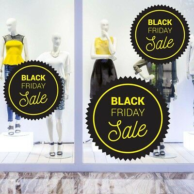 Black Friday Yellow Sale Removable Window Cling Stickers