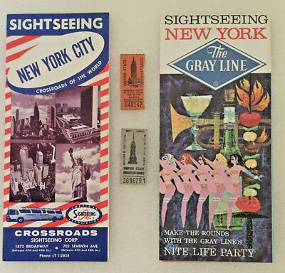 Vintage Empire State Building Tourist Brochures & Tickets 1960's