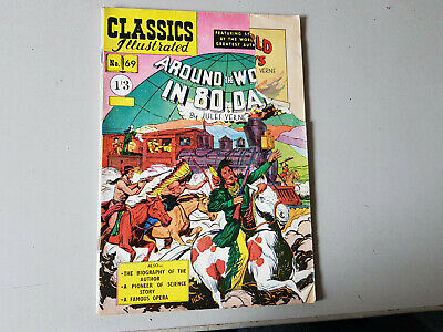 CLASSICS ILLUSTRATED COMIC No. 69 Around the World in 80 Days HRN 125 -  1/3