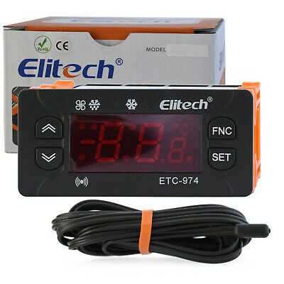 ETC 974 EASY COOL DIGITAL REFRIGERATION CONTROLLER 2xSensor included 3xOUT RELAY