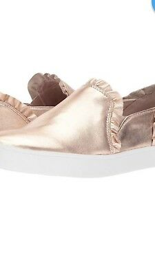 b195aecaac4f Kate Spade Nib Lilly Metallic Slip On Sneakers Shoes Rose Gold Size 7.5M