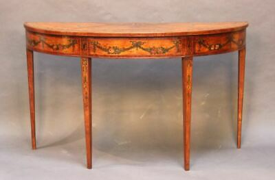 18thc Satinwood Pier Table with kingwood & boxwood inlay