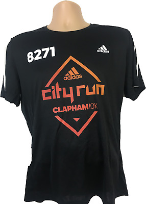 Mens T shirt Adidas Event top Climate Tee shirt black event team city run