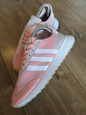 Adidas Womens Flashback Trainers FLB Retro Running Shoes Pink /& White Size 5-7